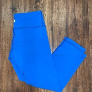 Lululemon cropped leggings. Reversible